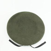 厂家定做军迷款做战贝雷帽深绿色贝雷帽男女款训练羊毛制服帽