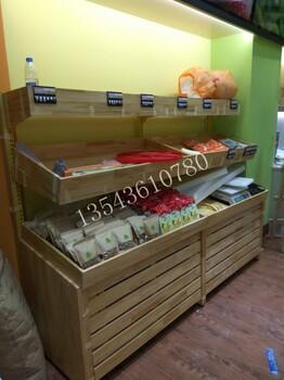 定做單層水果貨架鋼木架藥店實木貨架藥柜水果柜臺貨架廠家