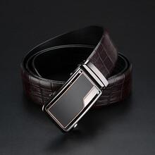 VILSBOL自动扣皮带广州皮带厂双面头层腰带支持现货批发来样定制