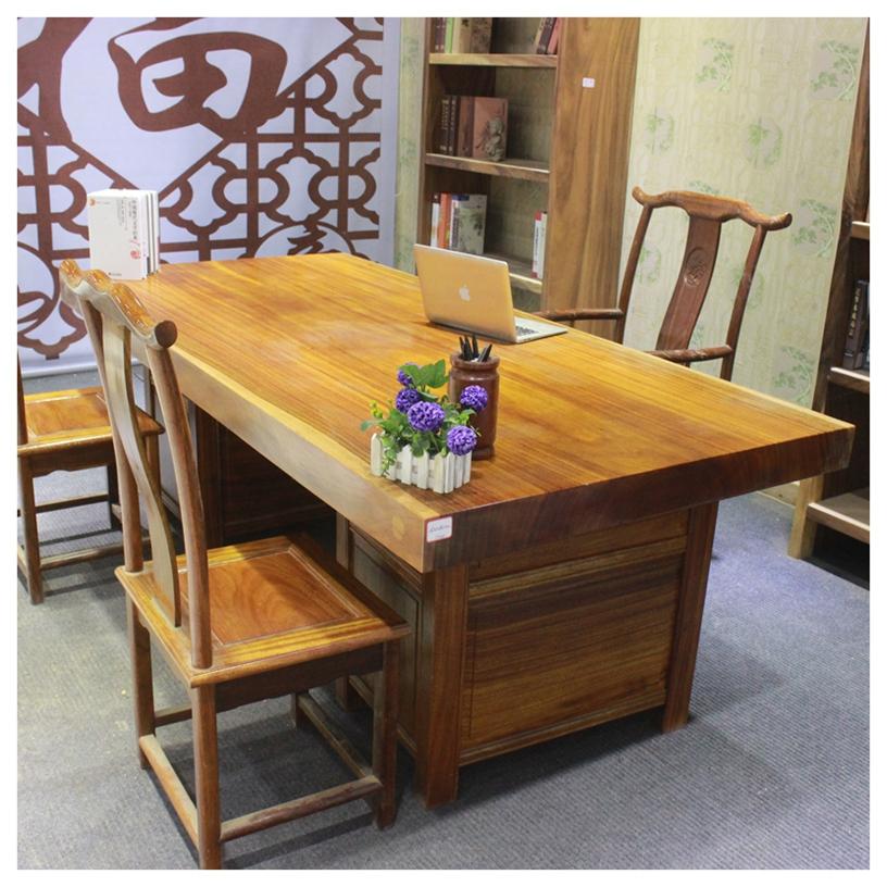 木名而来鸡翅木实木大板桌柚木金丝楠胡桃木家具茶桌茶台现货