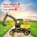 四川地区轮式挖掘机厂家山鼎二手轮胎式挖掘机