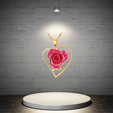黛雅厂家直销烤漆玫瑰花吊坠手工制作唯美定制款礼物图片
