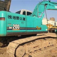 神钢200二手挖掘机,原装日本报关进口机子,三大件滴油不漏
