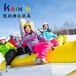 充气雪地香蕉船户外冰雪游乐设备趣味加厚充气船皮划船充气雪地船雪地滑行船