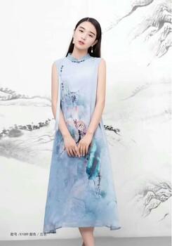 倍艺蒙真丝真丝连衣裙19当季新款高端品牌折扣女装工厂直销