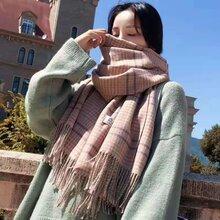 2019爆款韓國東大門羊絨圍巾上新巴寶利風格羊絨圍巾品牌女裝廠家直銷圖片