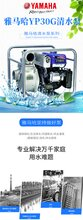 YAMAHA雅马哈YP30G手动抽水泵四冲程抽水机农用灌溉3寸清水泵3.3KW图片
