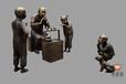 佛圣堂景观雕塑《吹糖人》DS2017铸铜广场景观雕塑