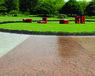 深圳彩色道路酸着色透水地坪的施工案例