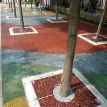 上饒彩色透水混凝土地坪材料廠家·小區防滑路面施工圖片