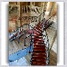 武汉市江夏区别墅室内钢构楼梯,武汉楼梯玻璃栏杆扶手