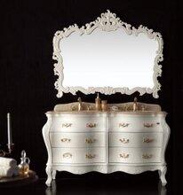 高第实木浴室柜精美的雕花工艺