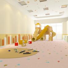 幼儿园地胶儿童早教中心地胶环保卷材地板易清理防滑图片