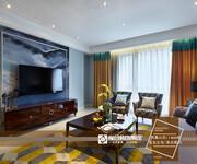 家合装饰——凤凰山庄120㎡美式简约风格原创分享图片