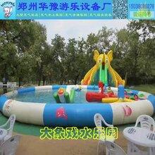 暑假经营好项目充气游泳池水上乐园图片