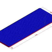 华豫游乐网红桥充气防护垫,碰碰球运动气垫,空翻气垫图片