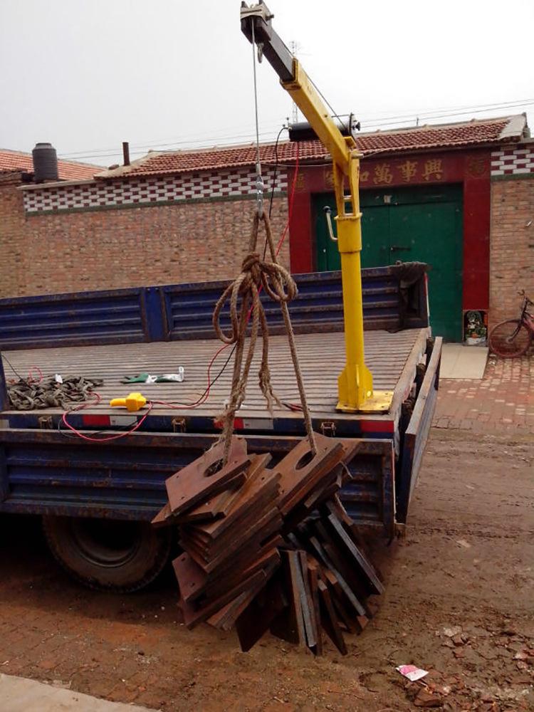 石家庄油桶车载小吊机室外车载吊运机价格24v车载小吊机厂家
