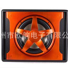 厂家直销汽车音响改装升级JD-102D10寸烤漆梯形重低音箱有源低音炮加大功率