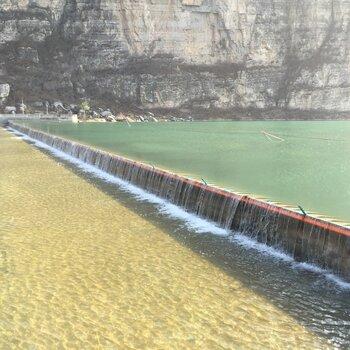 张掖城市景观气盾坝工程烟台桑尼提供气盾坝技术支持