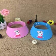 小猪佩奇宝宝洗澡帽浴帽6扣可调节儿童洗头帽成人防水婴儿洗发帽图片