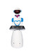 山東濰坊百航智能機器人酒店餐廳送餐迎賓機器人