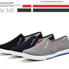 厂家直销一件代发2017新款老北京男式休闲布鞋帆布鞋懒人学生鞋