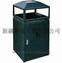 新疆钢板垃圾桶/新疆环卫垃圾桶抗老化耐腐蚀/华庭果皮箱品质卓越
