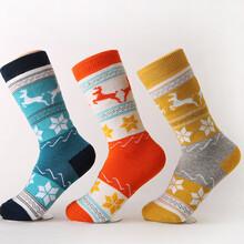 廣東戶外運動襪廠加工定制任意毛圈羊毛滑雪襪加厚保暖防凍圖片