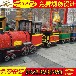 公园儿童电动小火车赚钱么新型无轨小火车生产厂家