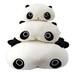 超萌大眼睛趴趴熊猫公?#20449;?#23039;毛绒玩具抱枕来图来样厂家定制