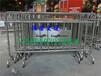 珠海不锈钢铁马可移动护栏_展览会专款不锈钢铁马丝印企业公司logo