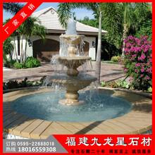 石雕水钵欧式水景喷泉福建惠安石雕厂图片