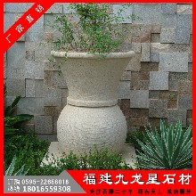 天然石材花钵花岗岩花盆欧式石雕花盆图片