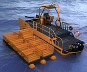多功能水面清理船,多功能水面清洁船,垃圾清理船图片