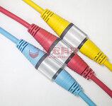 LED防水插头线IP68电线防水连接器航空公母接插头线