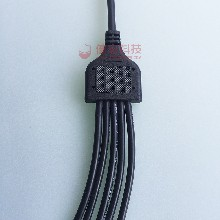 健宏y型一拖六一拖多防水线led路灯电源防水连接器