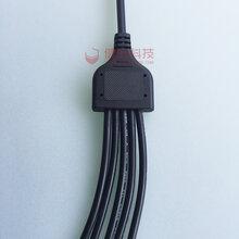 厂家生产供应Y型防水线led路灯电源一出多防水连接器