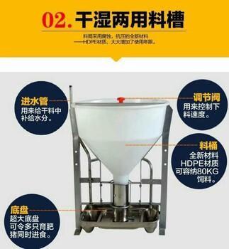 自动化喂猪设备喂猪不锈钢干湿料槽育肥猪自由采食槽批量销售
