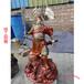 大型黃銅三清銅像制作廠家彩繪道教關公