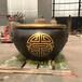 別墅庭院銅大缸聚財銅缸擺件純銅缸仿古做舊銅大缸