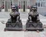 大型動物雕塑廠家北京獅子純銅獅子銅宮門獅一對