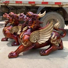 铜龙生九子青铜雕塑纯铜纯铜麒麟摆件貔貅祥狮工艺品图片