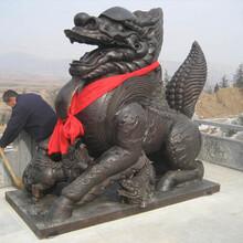 铸铜麒麟雕塑黄铜貔貅大象狮子看门神兽图片