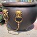 大銅缸鑄造廠家盛水大銅缸紫銅缸青銅廣場花缽雕塑