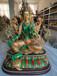 純銅密宗綠度母佛像藏傳圣救度佛母擺件西藏銅佛像