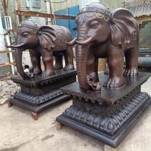 純銅大象銅象純銅擺件唐縣鑄銅廠圖片