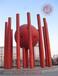 众象雕塑不锈钢红色抽象雕塑