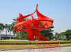众象雕塑不锈钢雕塑红色抽象雕塑广场雕塑