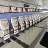 聊城处理6台盛名牌28头300间距二手绣花机都在做货