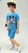 外贸原单童装直销夏季儿童中裤两件套装男女宝宝短袖T恤批发
